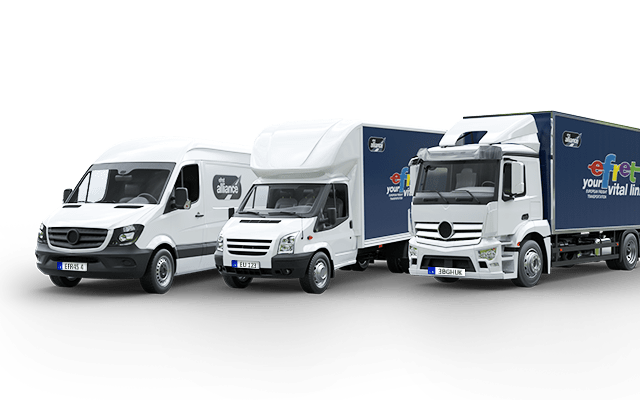 Point to point palletized EU Freight Vans